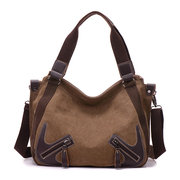 Women Canvas Large Capactiy Handbag Casual Shoulder Bags Crossbody Bags