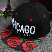 Men Women Adjustable Letter Embroidery Snapback Baseball Cap Dancing Hip Hop Caps