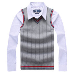 Casual Knitted Sweater Slim Fit V-Neck Cotton Sleeveless Vest For Men