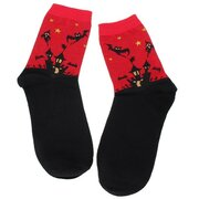 Women Cute Cartoon Cotton Socks Halloween Couples Middle Stockings