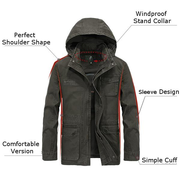AFS JEEP Outdoor Casual Cotton Multi Pockets Hooded Jacket for Men