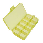 10 Slots Detachable Plastic Nail Decoration Case Cosmetic Organizer Compartment Storage