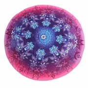 Gradient Flower Round Beach Towel Cotton Scarf Shawl Yoga Mat Tapestry Wall Hanging