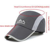 Men Women Leisure Sports Cap Quick-drying Waterproof Mesh Hat