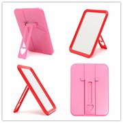 Small Stand Makeup Mirror Shaving Make Up Beauty Cosmetic Mirrors Red Pink