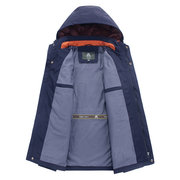 Outdoor Travelling Casual Military Jacket Water-Resistant Chest Zipper Hooded Coat For Men