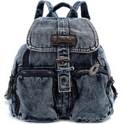 Women Cowboy Canvas Multi Pocket Backpack