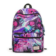 Fashion Women Canvas Vortex Pettern Backpack