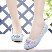 Moon Flower Colorful Flat Slip On Shoes