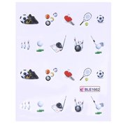 Sport Water Transfer Nail Art Stickers Decoration