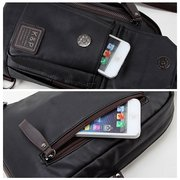 Men's Sport Small Black Blue Brown Casual PU Leather Shoulder Crossbody Chest Bag