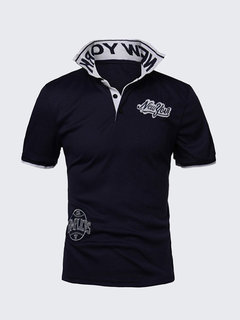 Mens Casual Tee New York Embroidered Short-sleeved Polo Shirts