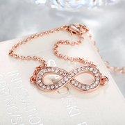 Simple Women Bracelet Alloy Number Eight Rhinestone Bracelet