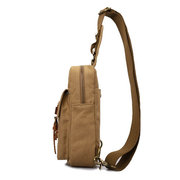 Men Canvas Casual Outdoor Black Army Green Sport Crossbody Chest Bag