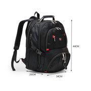 AUGUR 17inch Laptop Men Large Capacity Outdoor Travel Nylon Oxford Casual Backpack