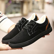 Men's Pure Color Warm Fur Lining Outdoor Lace Up Casual Shoes