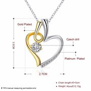 Sweet Necklace Heart Rhinestone Necklace for Women Gift
