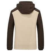 Men's Winter Cotton Blended Two-tone Thick Windproof Warm Detachable Hooded Jacket Coat