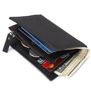Men Business Causal Genuine Leather Card Holder Wallet Short Purse