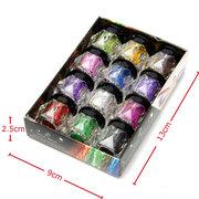 12 Colors Eye Shadow Powder Shining Bright Glitter Pigment Makeup Set