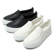 Pu Pure Color Letter Casual Korean Style Slip On Platform Loafers