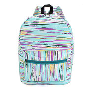 Fashion Women  Stripe Color Canvas Backpack