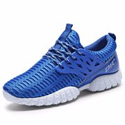 Men Sport Lace Up High Top Mesh Casual Brethable Shoes