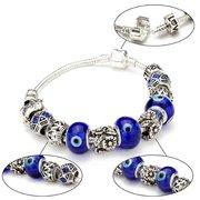 Glass Beads Antique Silver Crystal Bracelet