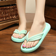 Candy Color Ribbon Dot Clip Top Flip Flops Outdoor Beach Flat Slippers