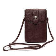 Women Elegant Alligator Pattern Shoulder Bag 6inch Phone Bag For iPhone Samsung Xiaomi Sony