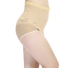 Plus Size Women knitted High Elastic Thicken Panties Breathable High Waist Pregnant Underwear