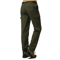 Mens Spring Fall Outdoor Soft Shell Water-repellent Quick-Dry Straight Leg Breathable Sport Pants