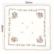 1Pcs Women Vintage Quadrate Floral Cotton Handkerchiefs Wedding Party Hankies