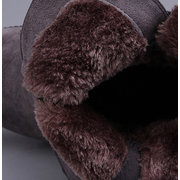 Big Size Buckle Fur Lining Ankle Short Warm Flat Boots
