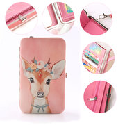 PU Casual Clutch 5.5 Inch Cartoon Functional Phone Wallet Case For iPhone Samsung Sony Huawei
