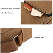 Men Small Outdoor Retro Casual Messenger Sport Canvas Crossbody Bag