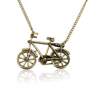 Bronze Bicycle Shape Pendent Sweater Necklace