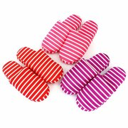 Stripe Color Match Flat Indoor Home Casual Spring Slippers For Women