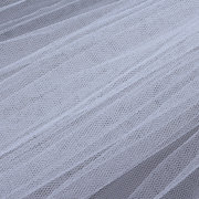 One Layer Wedding Veil Long Veil Comb Soft Tulle Cut Edge Cathedral Bride Accessories