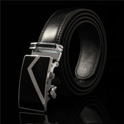 Men's Synthetic Leather Automatic Buckle Belts Fashion Waist Strap Belt Waistband
