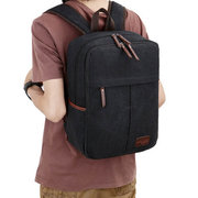 Men Canvas 15 Inch  Retro Laptop Backpack Outdoor Travel Casual Student Backpack