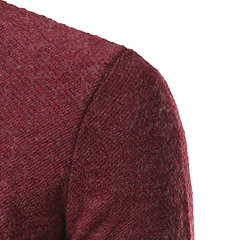 Fall Winter Mens Bottoming Knitted sweater Warm Solid Color V-neck Slim Fit Casual Top Tee