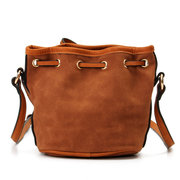 Women Casual Bucket PU Leather Draw String Crossbody Bag Shoulder Bags