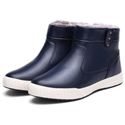Men British Side Zipper Warm Fur Lining Non-slip Snow Casual Ankle Boots