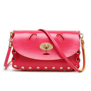 Women Messenger Causal Stylish Hollow Out Hasp Rivet Crossbody Bags Shoulder Bags