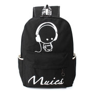 Women Noctilucence Canvas Backpack Casual Travel Shoulder School Bags