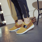 Buckle Pure Color Slip On Casual Sport Running Jogging Sneakers