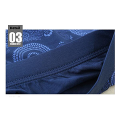 Casual Printing Breathable U convex Pouch Boxers Mid-rise Underwear For Men