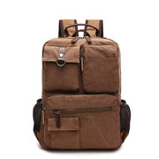 Men Canvas Outdoor Travel Multifunctional Shoulder Bags Large Capacity Backpack