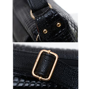 Women Messenger Alligator Pattern Zipper Multi-pocket Shoulder Bags Crossbody Bags